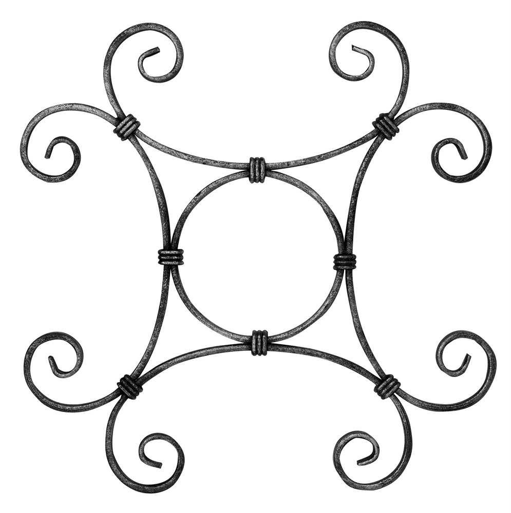 Zierelement | Maße: 290x290mm | Material: 10x5 mm | Stahl S235JR, roh